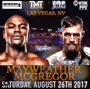 El afiche de Mayweather-McGregor, el próximo 26 de agosto.